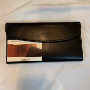 Coach trifold checkbook wallet